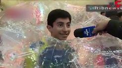 نخستین باشگاه فوتبال حبابی در چهارمحال و بختیاری + فیلم