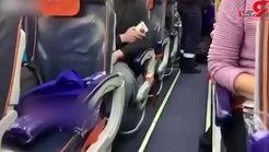 فیلم لحظه دستگیری هواپیماربای روسی در میان مسافران