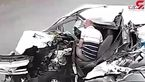 تصادف عجیب راننده خواب آلود را از خواب پراند! + فیلم