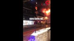 فیلم لحظه آتش سوزی مرگبار پیست اسکی در فرانسه
